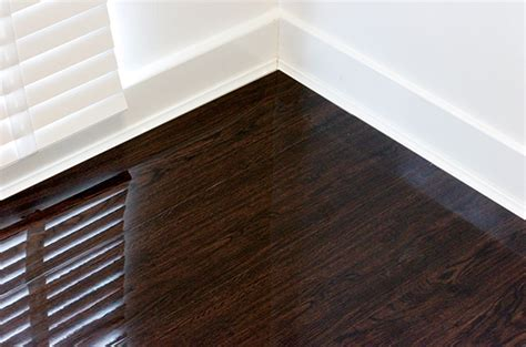 High Gloss Chocolate Walnut   Floorless Floors