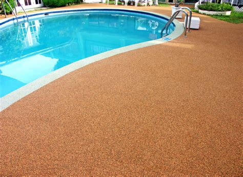 Pool Rubber Flooring by Re Surfaced Pool Deck By Rubaroc Rubber Safety Surfacing Outdoor Products