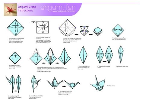 Crane Origami Directions - beginner origami crafts