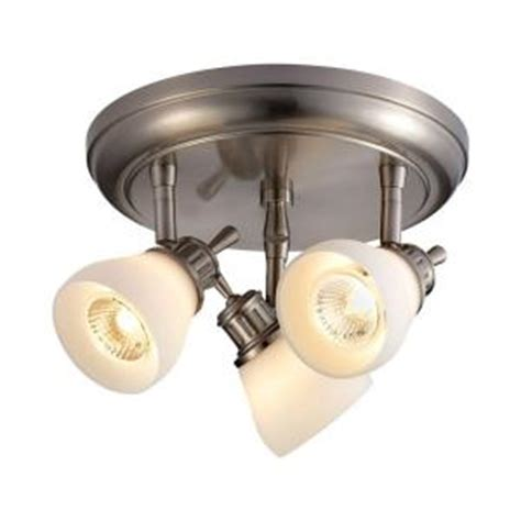 hton bay 3 light satin nickel directional ceiling track