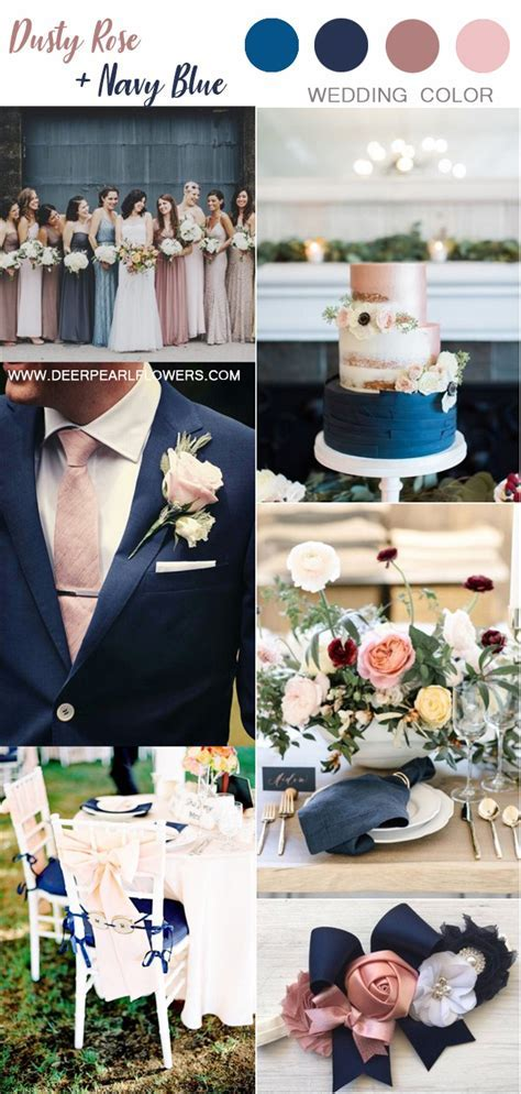 Top 6 Dusty Rose Wedding Color Palette Inspiration   Deer