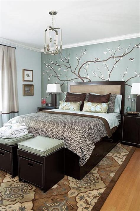 Home Decor Ideas For Small Bedrooms Blue White Brown Bedroom Ideas Bedroom Decorating Ideas