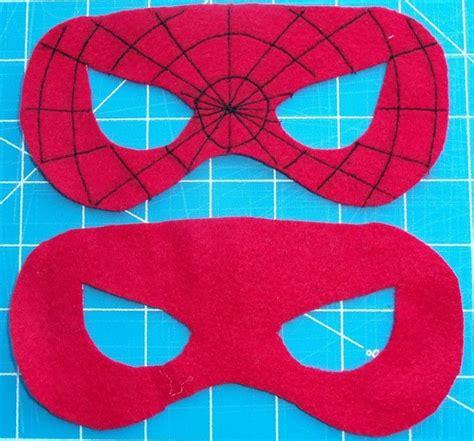pattern for felt superhero mask felt superhero mask templates spiderman superhero party