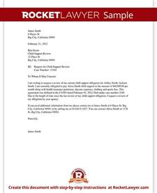 Letter For Child Support by Child Support Review Letter Request Review With Sle