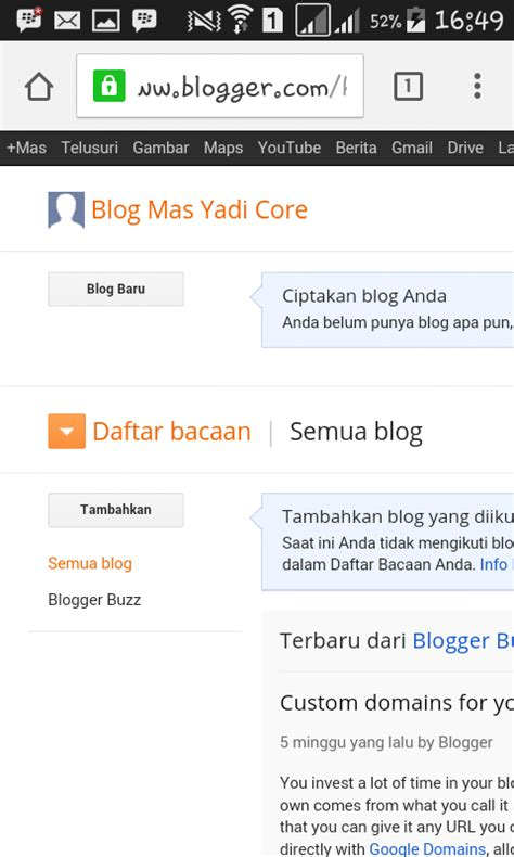 cara membuat blog via hp cara membuat blog blogger lewat laptop maupun android
