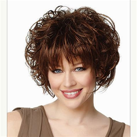 sles of short hairstyles hot sale heat resistant synthetic brown short hair wigs