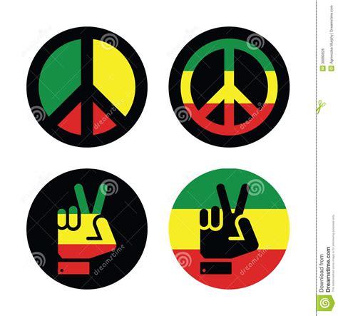 imagenes simbolos rastas paz de rasta iconos del vector del gesto de mano fijados
