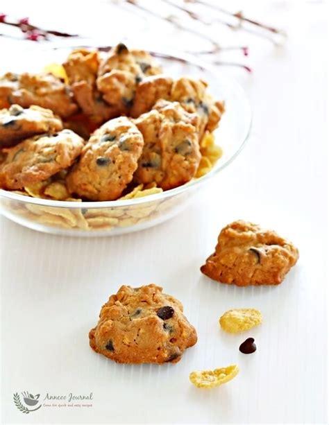 new year cornflake cookies recipe cornflake chocolate chip cookies 玉米片巧克力粒曲奇 anncoo journal