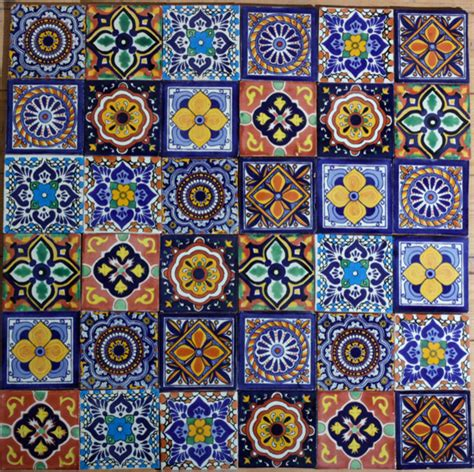 Mexican Handcrafted Tile - mexican handmade tiles mediterranean decorative