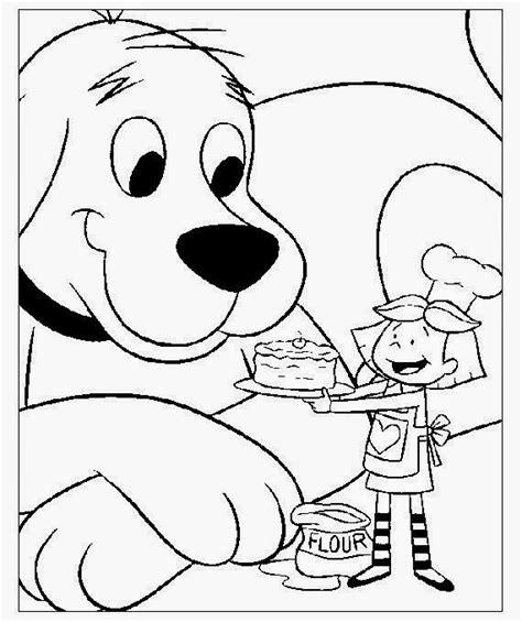 coloring pages of big dogs clifford the big red dog coloring pages to print free