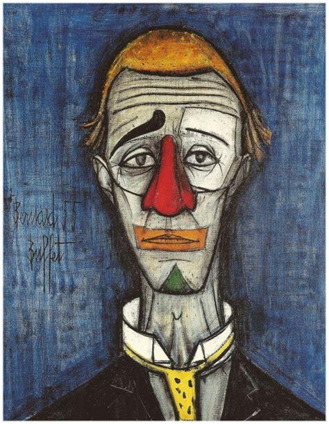 le clown bleu bernard buffet 1955 clowns pinterest