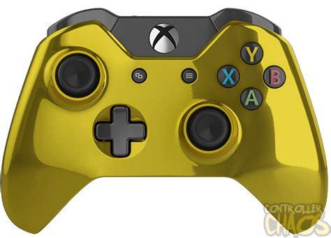 chrome gold xbox one modded controller controller chaos