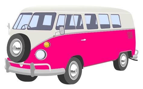 volkswagen van transparent pink cer van clip art at clker com vector clip art