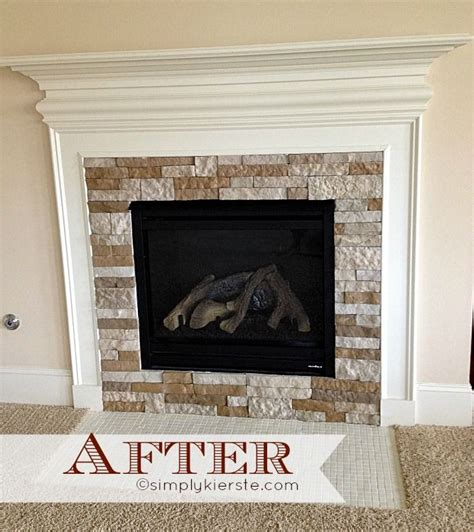 before and after fireplace makeovers fireplace makeover using airstone