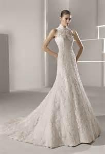 Wedding Dress High Neck High Neck Lace Mermaid Wedding Dress Onewed Com