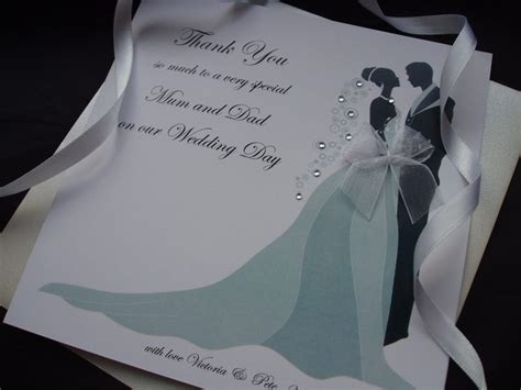 Wedding Congratulations To Parents Of The Groom by And Groom Thank You To Parents Card Handmade Cards