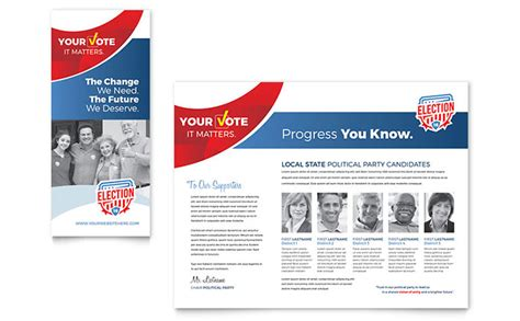 political brochure templates election brochure template design