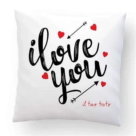 cuscino per san valentino cuscino san valentino i you 40x40cm ste per