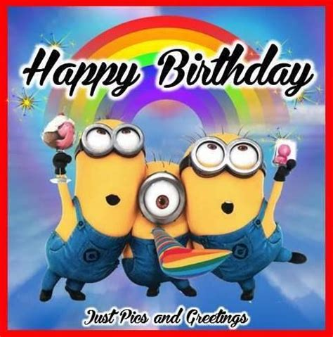 happy birthday minion images happy minion happy birthday image quote pictures photos and