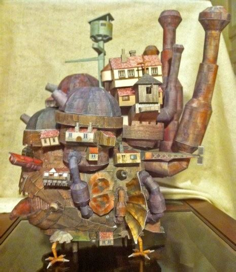 Howls Moving Castle Papercraft - howl s moving castle in shockingly papercraft form