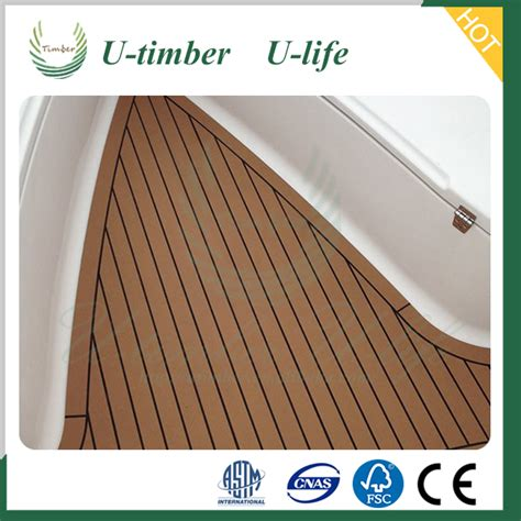 boat decking products long lifetime wood plastic composite boat decking material