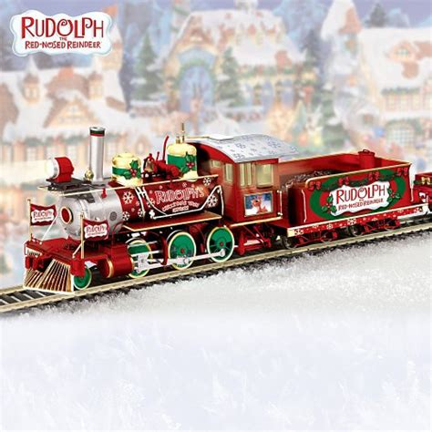 rudolph s christmas town express electric train collection