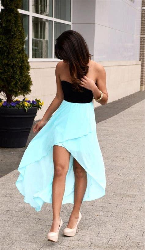 pretty mint sleeve high low dress sheer flowy skirt