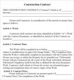 construction contracts templates doc 800997 simple construction contract template