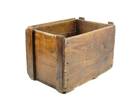 wooden crates vintage wood crate wooden box caramel brown by bridgewoodplace