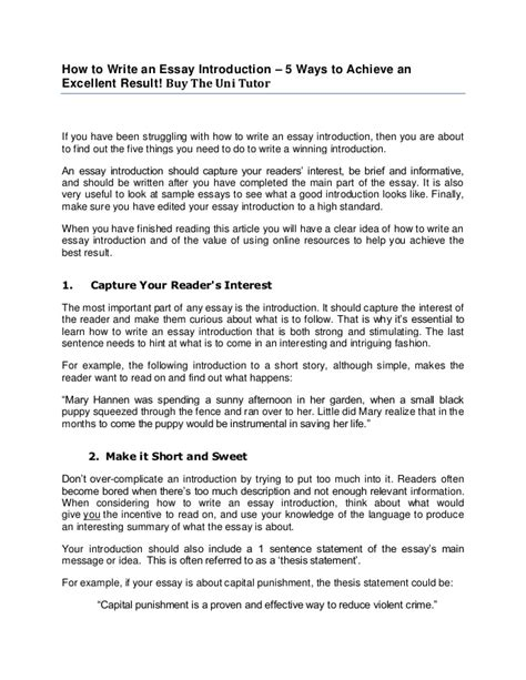Essay Writing Tutor by How To Write An Essay Introduction By The Uni Tutor