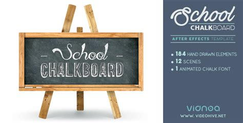 School Chalkboard By Vidnoadesign Videohive Whiteboard After Effects Template