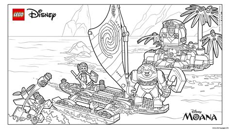 lego adventures coloring pages lego moanas ocean adventure coloring pages printable