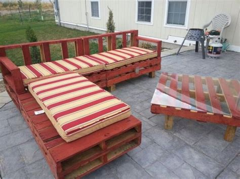 Pallet Patio Furniture Wood Pallet Patio Furniture Plans Recycled Things