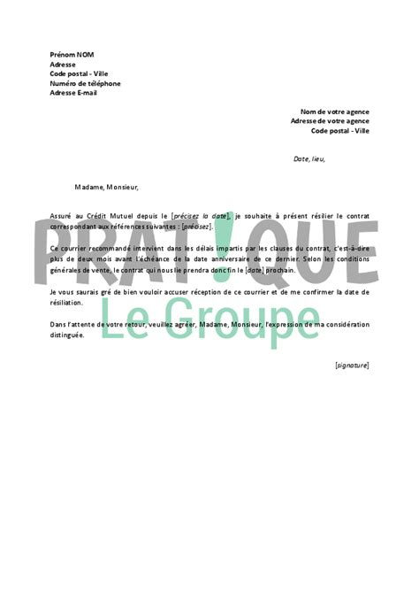 Lettre De Motivation Responsable De Zone Modele Lettre Resiliation Contrat Assurance Sante Document