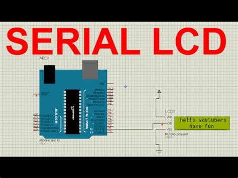 tutorial arduino serial arduino tutorial serial lcd with arduino on proteus in