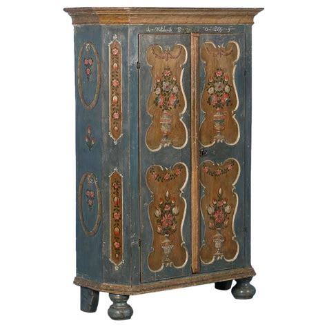 Blue Armoire For Sale Antique Armoire From Hungary With Original Blue Grey Paint