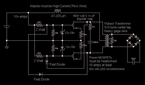 capacitor zvs transformer output voltage electrical