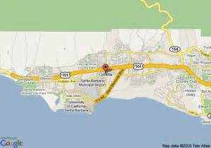 goleta california map map of 8 motel santa barbara goleta goleta