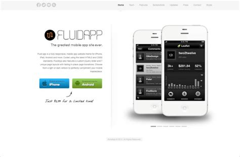 responsive templates for android 27 app developers website themes templates free
