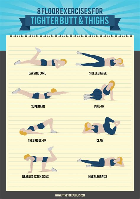 floor exercises   tight butt  toned thighs