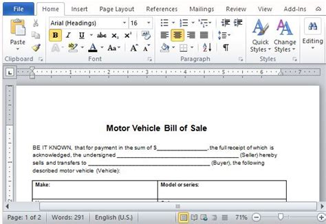 can you make a car payment with a credit card motor vehicle bill of sale template for word