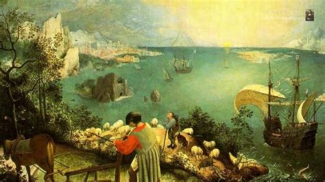 Landscape With The Fall Of Icarus Painting The Fall Of Icarus By The Painter Pieter Bruegel