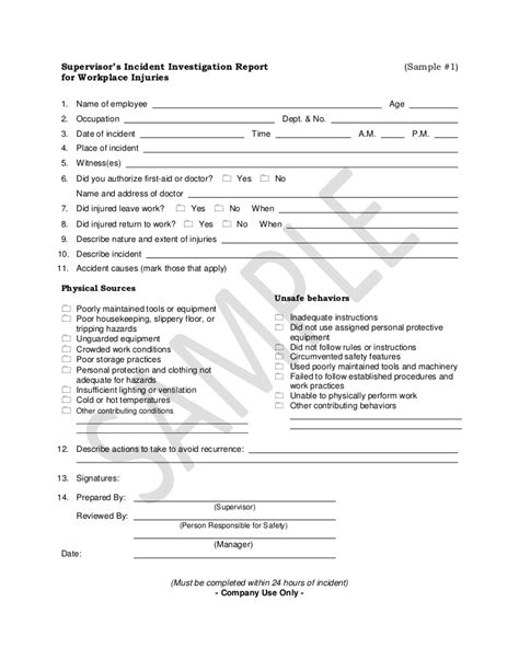incident investigation report template investigation report sle 1