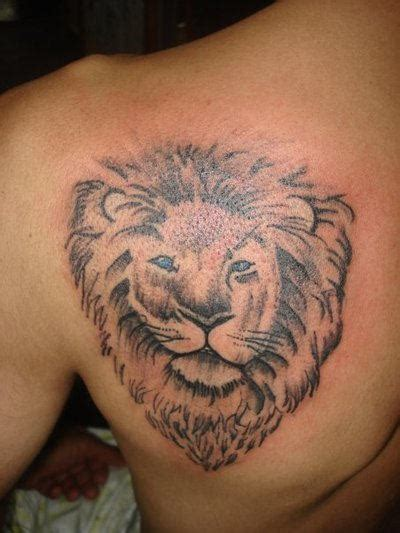 lion eyes tattoo blue
