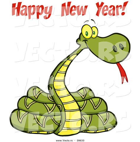new year and snake vector of a 2013 snake with happy new year text by hit