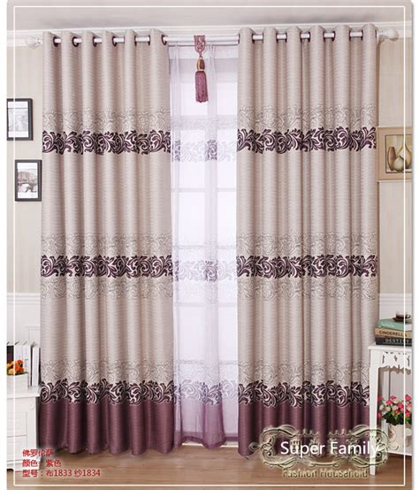 purple and grey striped curtains environmental blackout window curtains with tulle voile