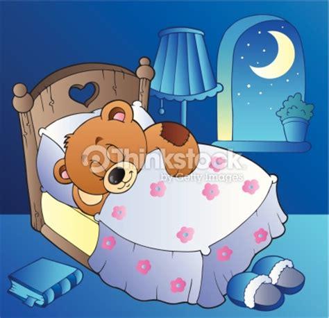 comic buch schlafzimmer schlafen teddyb 228 r im schlafzimmer vektorgrafik thinkstock