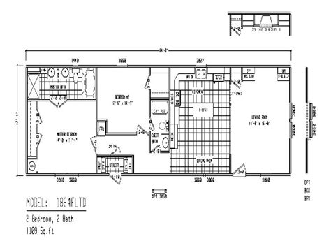 Single Wide Mobile Home Floor Plan | 16x40 mobile home floor plans quotes