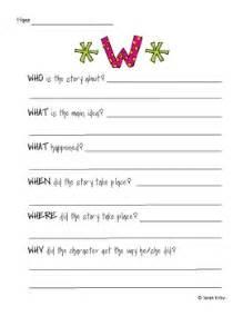 5 W S Worksheet by 5 W Worksheet By Kirby Teachers Pay Teachers