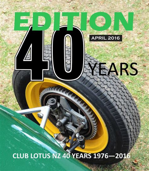lotus nz club lotus new zealand edition 60 available for